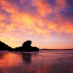 Magic sunrise on winter lake Borovoe. Kazakhstan. — Stock Photo #5465793