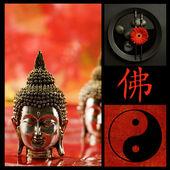 Buddha collage — Stockfoto