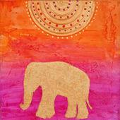 Elephant painting — Stock Photo