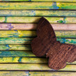 Wooden butterfly — Stock Photo