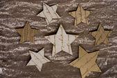 クリスマスの星ゴールデン ファブリック — ストック写真
