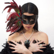 Stock Photo: Exotic lady in fancy mask