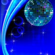 Stock Vector: Disco_blue_light
