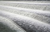 Foaming water in the Lech dam at Landsberg am Lech — Stock Photo
