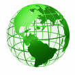 Transparent the globe green color — Stock Photo