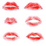Постер, плакат: Print of lipstick red
