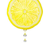 Section lemon with drop — Stock Photo