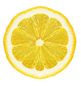 Section lemon isolated — Stock Photo