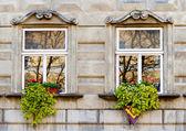Fachada de un edificio con ventanas — Foto de Stock