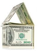 Dolar - dům s odleskem — Stock fotografie