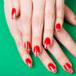 Female hands with French manicure — Stock Photo