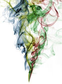 Abstract color smoke from white background — Stock Photo