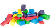 Set of wooden toys of blocks — Stock Photo