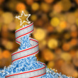 Abstract fur-tree with ribbon — Stock Photo