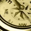 Ancient compass closeup - Stock Photo