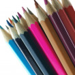 Background color pencils — Stock Photo