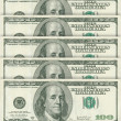 100 dollar banknotes — Stock Photo