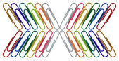 Abstract office paper clips — Stock Photo