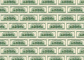 Background from dollars underside — Stock Photo
