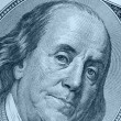 Stock Photo: Benjamin Franklin blue color