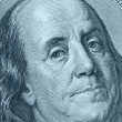 Stock Photo: Benjamin Franklin close up blue color
