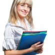 The business woman with folders for official papers — Stock Photo #6190621