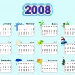 Calendar 2008 - seasons — Stock Photo