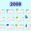 Calendar 2008 - seasons — Stock Photo #6190744
