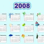 Calendar 2008 - seasons — Stock Photo