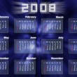 Calendar in fantastic style - 2008 - Stock Photo