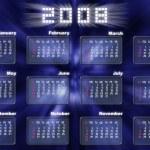 Calendar in fantastic style - 2008 — Stock Photo