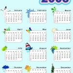 Calendar 2008 — Stock Photo