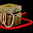 Casket with jewelry — Foto Stock
