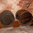 Cellar with casks - Stock Photo
