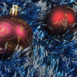 Christmas background red toy — Stock Photo #6191054