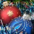 Christmas background with fur-tree — Stockfoto