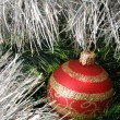 Christmas background with fur-tree — Stock Photo
