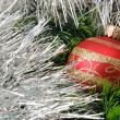 Christmas background with fur-tree - Stock Photo