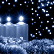 Christmas blue evening - Foto de Stock