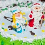 New Year's cake — Stock Photo