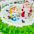 New Year's cake — Stock Photo