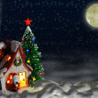 Christmas night — Foto de Stock