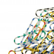 Stock Photo: color paper clips
