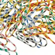 Color paper clips — Stock Photo