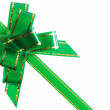 Congratulatory ribbon green — Stock Photo