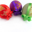 Easter painted egg tied up by tapes 2 — Stock Photo #6192118