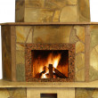 Fireplace isolated — Stock Photo