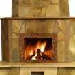 Stock Photo: Fireplace isolated