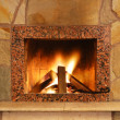 Stock Photo: fireplace