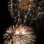 Fireworks background — Stock Photo